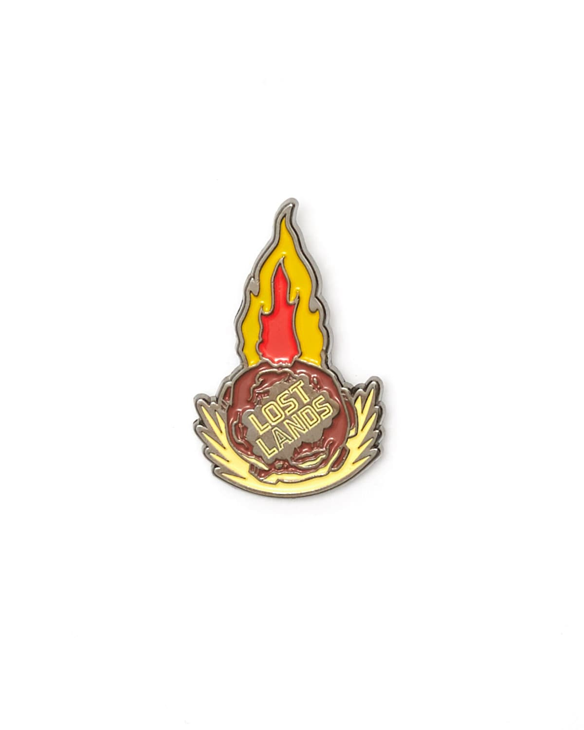 'Meteor' Enamel Pin - Red/Yellow
