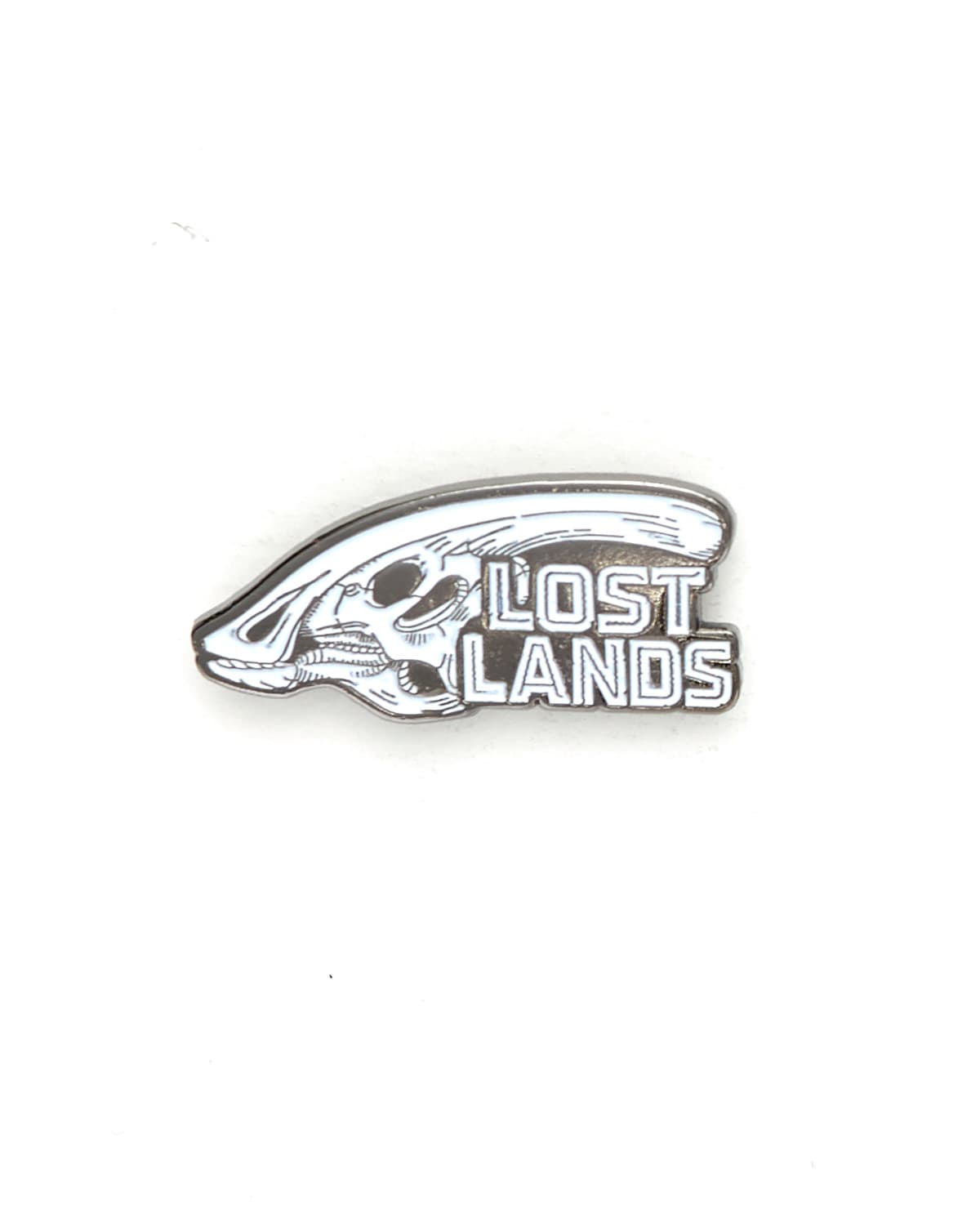 Lost Lands 'Parasaurolophus' Enamel Pin - White