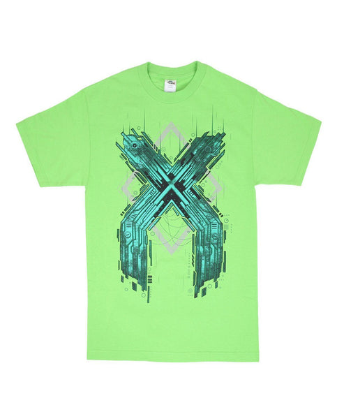 Excision Metal X Unisex T-Shirt - Green / Blue