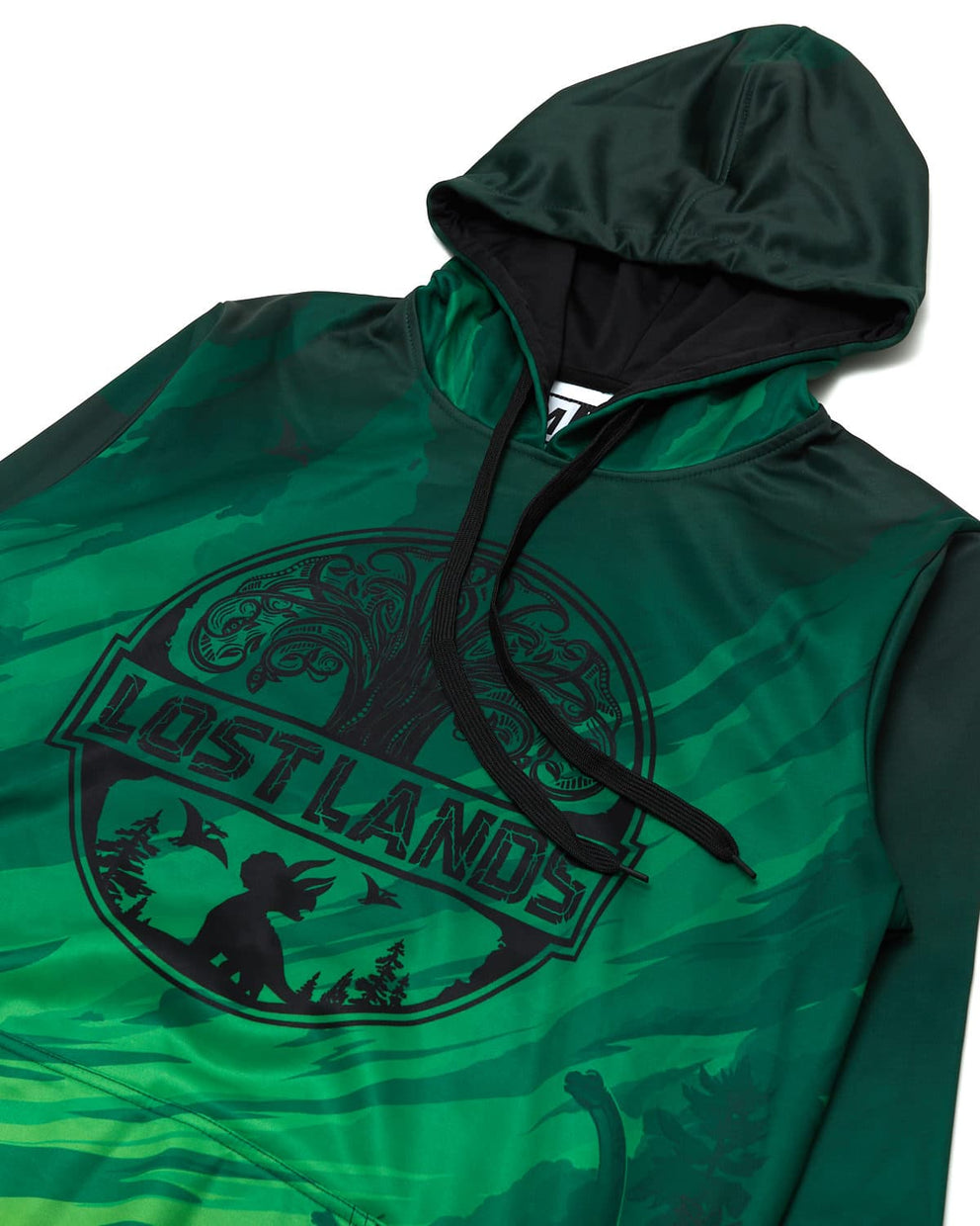 Official Lost Lands 2019 Line Up Dye Sub Hoodie - Green/Black