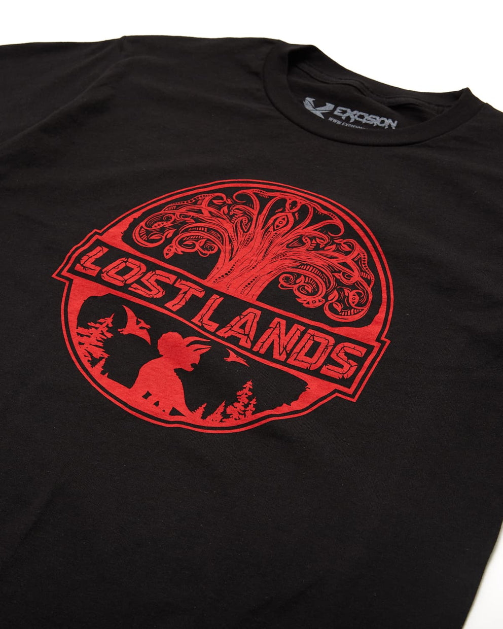 Official Lost Lands 2019 Lineup T-Shirt - Black/Red