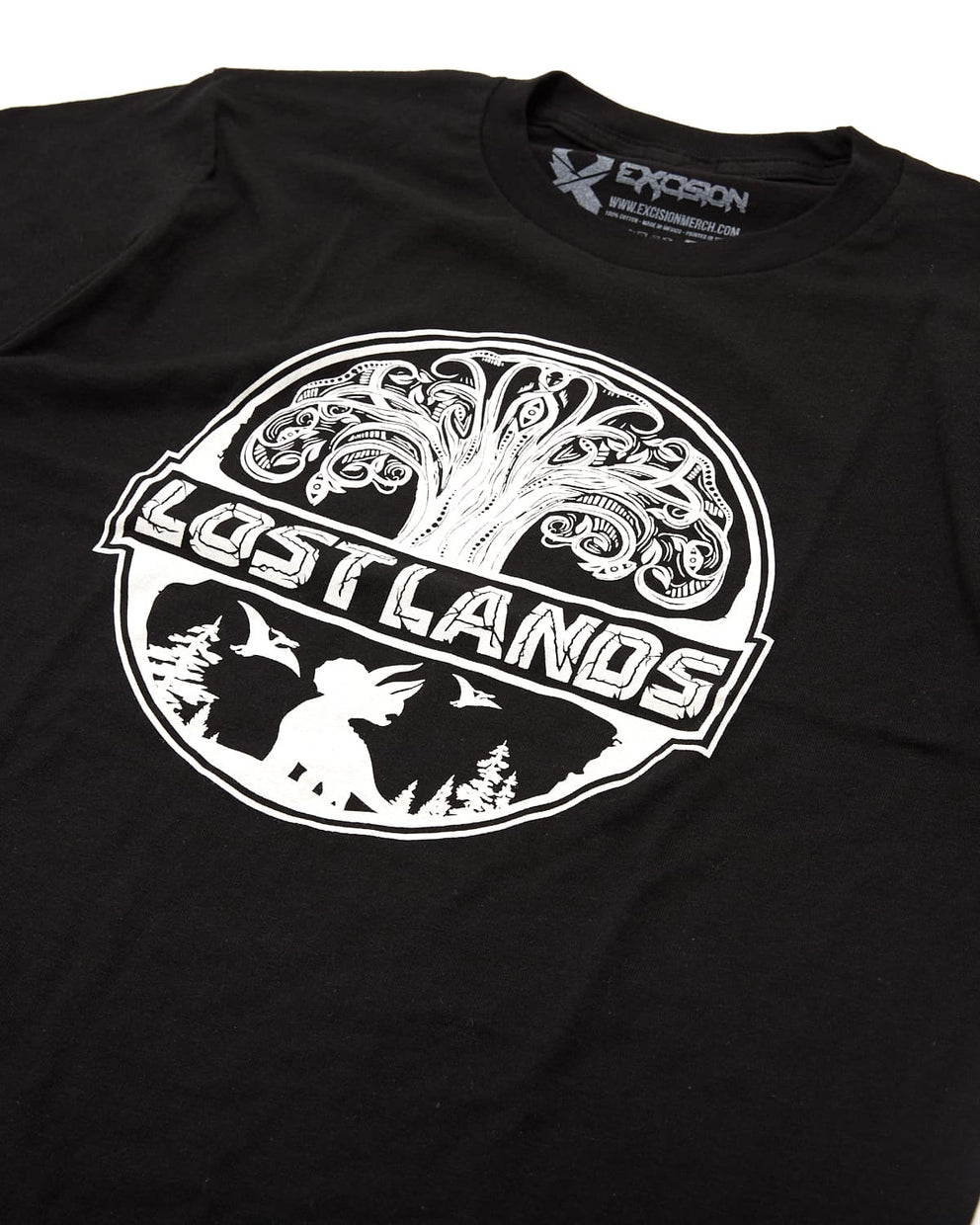 Official Lost Lands 2019 Lineup T-Shirt - Black/White