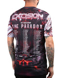 "Excision 'The Paradox 2017"" Dye Sub Tour T-Shirt - Black/Red"
