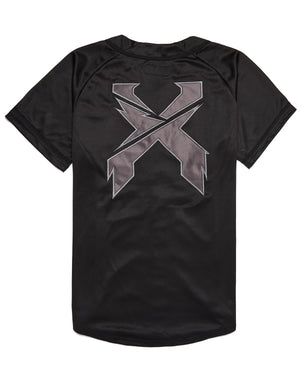 Excision Rex Baseball Jersey - Black/Black