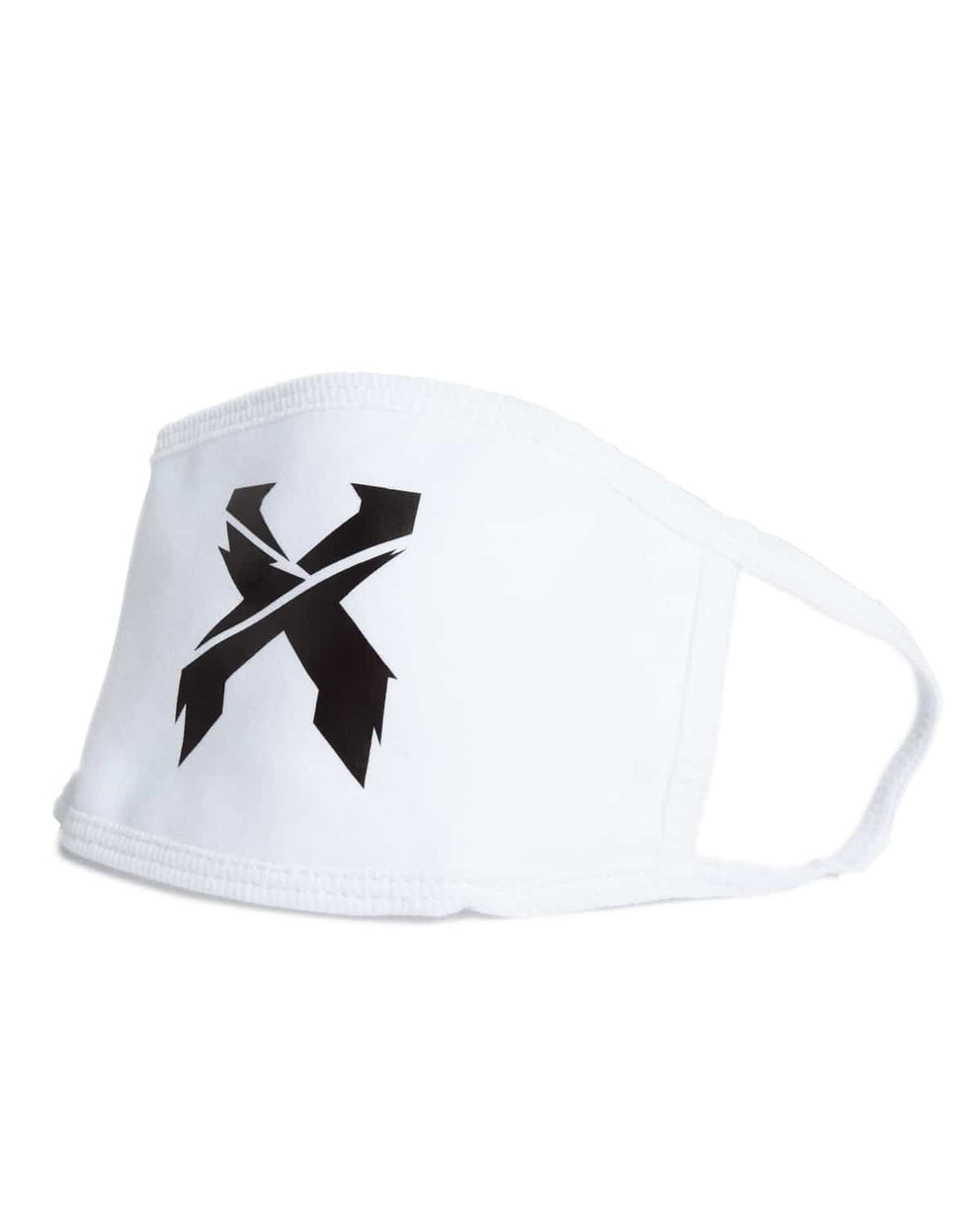 Excision 'Sliced' Logo Mouth Mask - White
