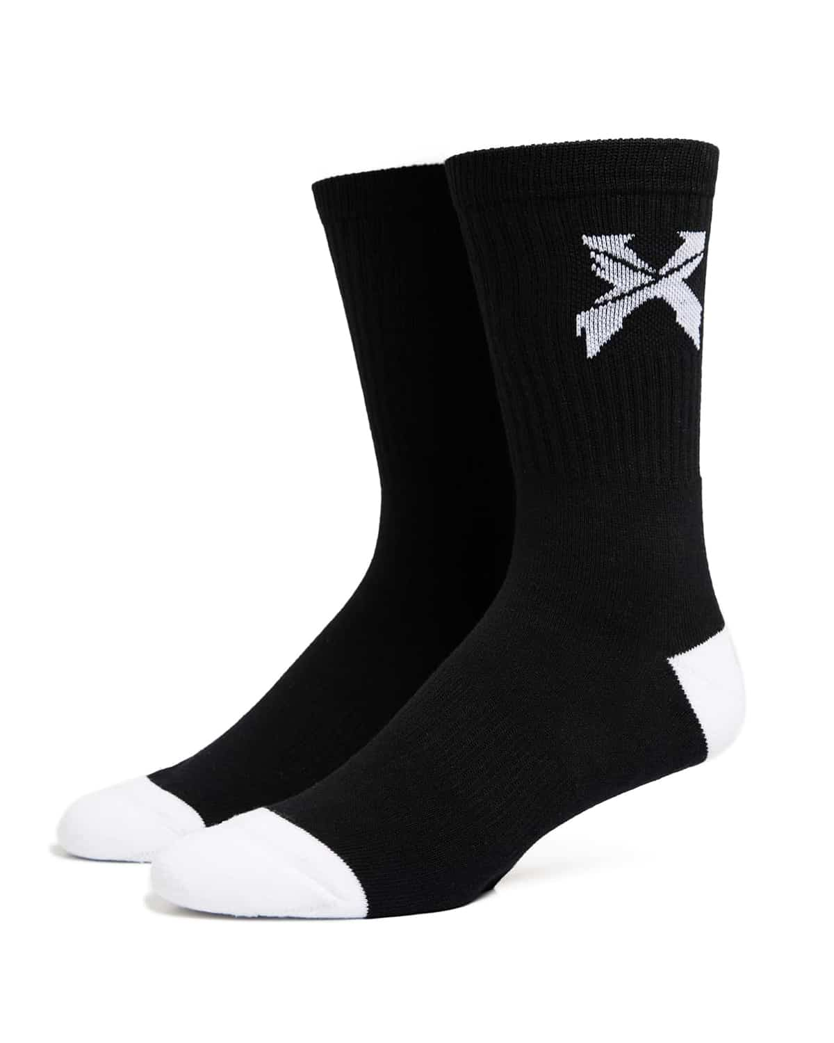 Excision 'Sliced' Logo Socks - Black/White