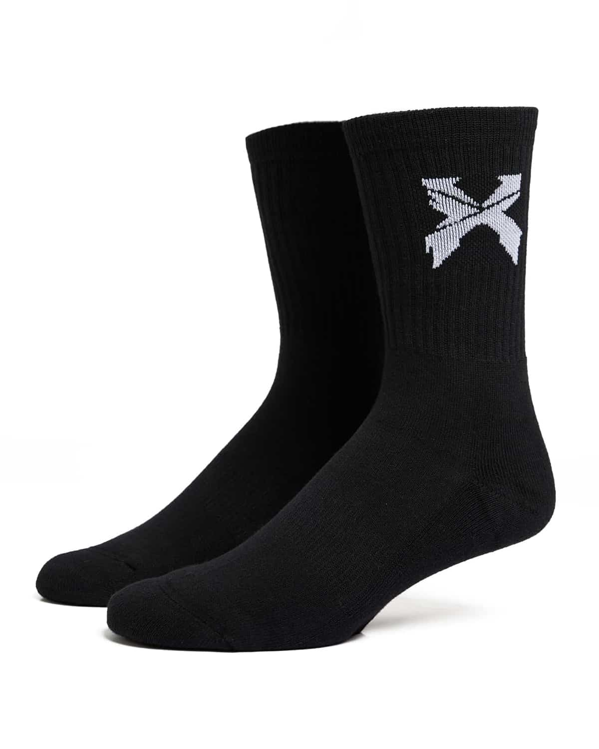 Excision 'Sliced' Logo Socks - Black