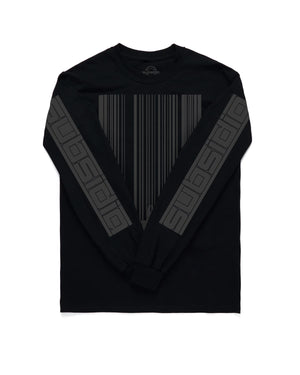 Subsidia 'Barcode Skyline' Long Sleeve Tee - Black