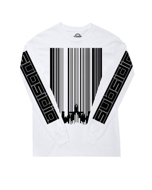 Subsidia 'Barcode Skyline' Long Sleeve Tee - White