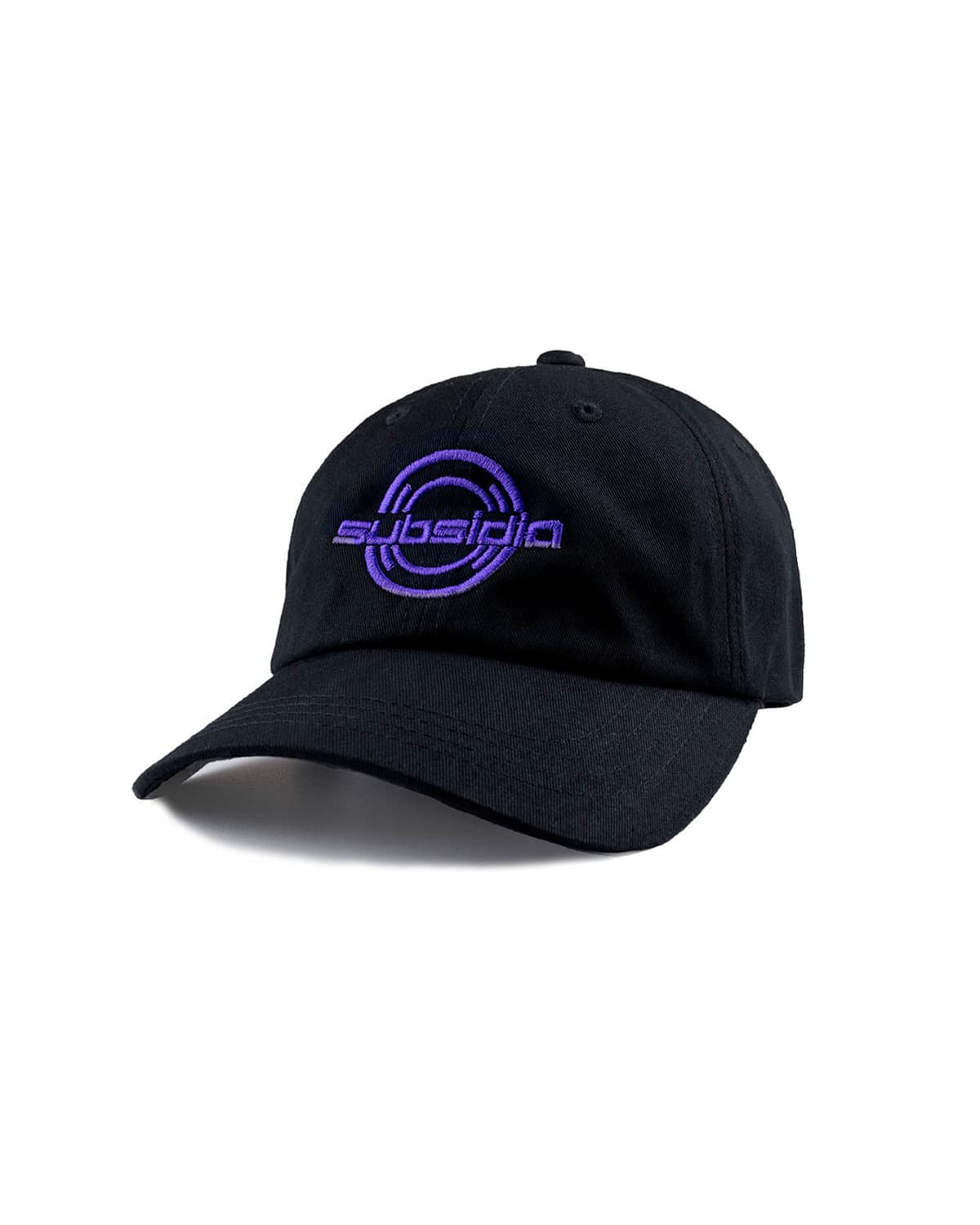 'Subsidia' Dad Hat - Black/Purple