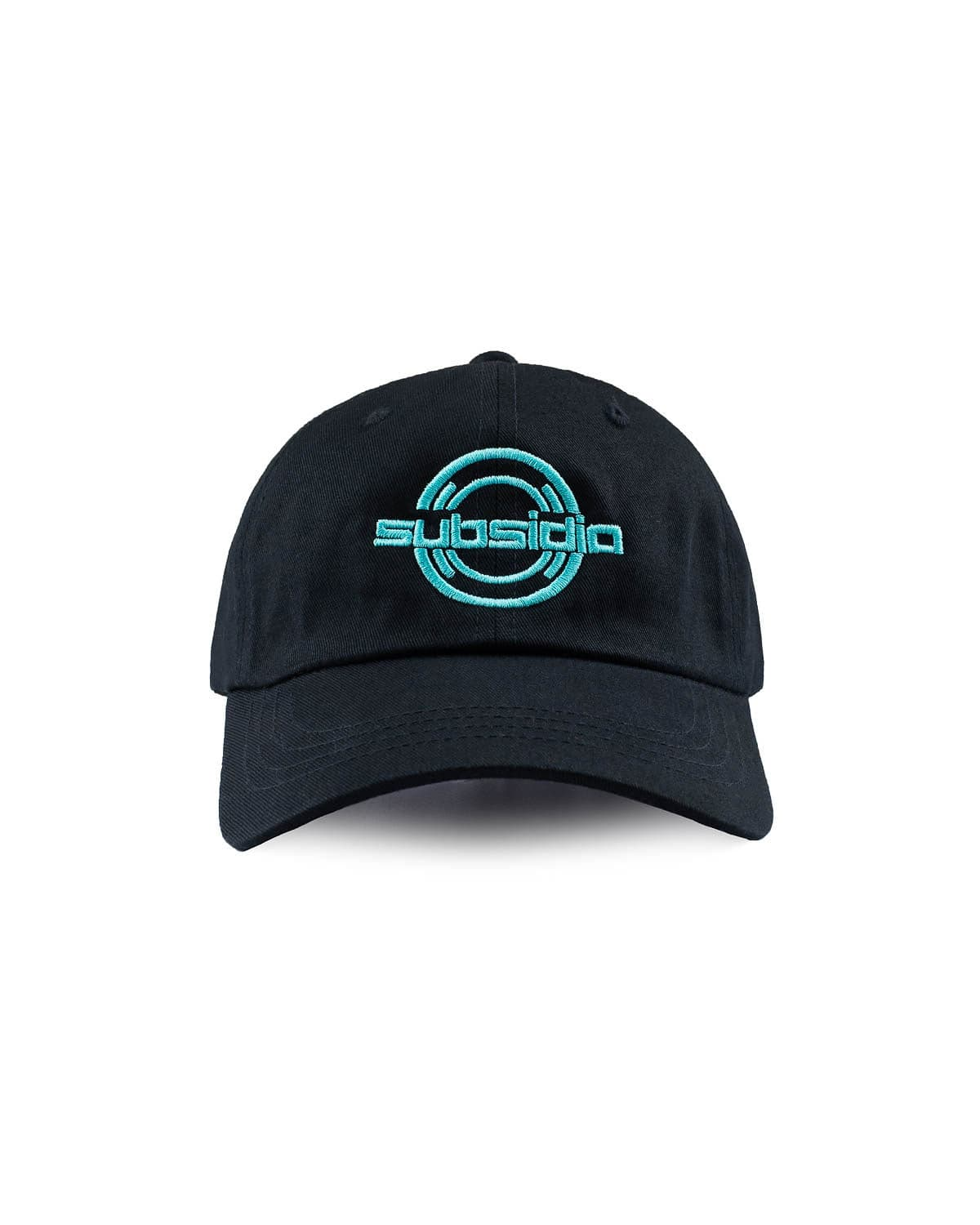 'Subsidia' Dad Hat - Black/Teal