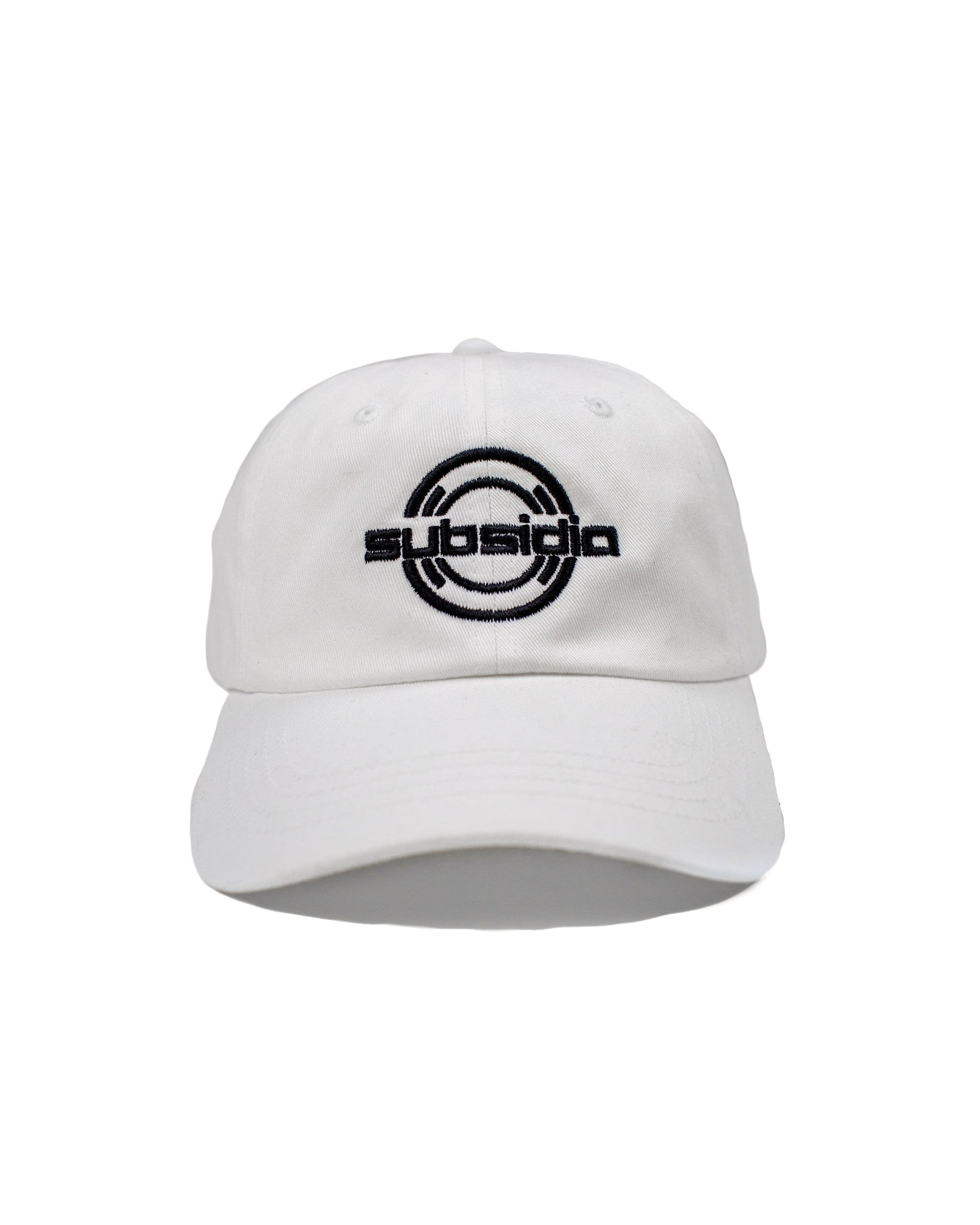 'Subsidia' Dad Hat - White/Black