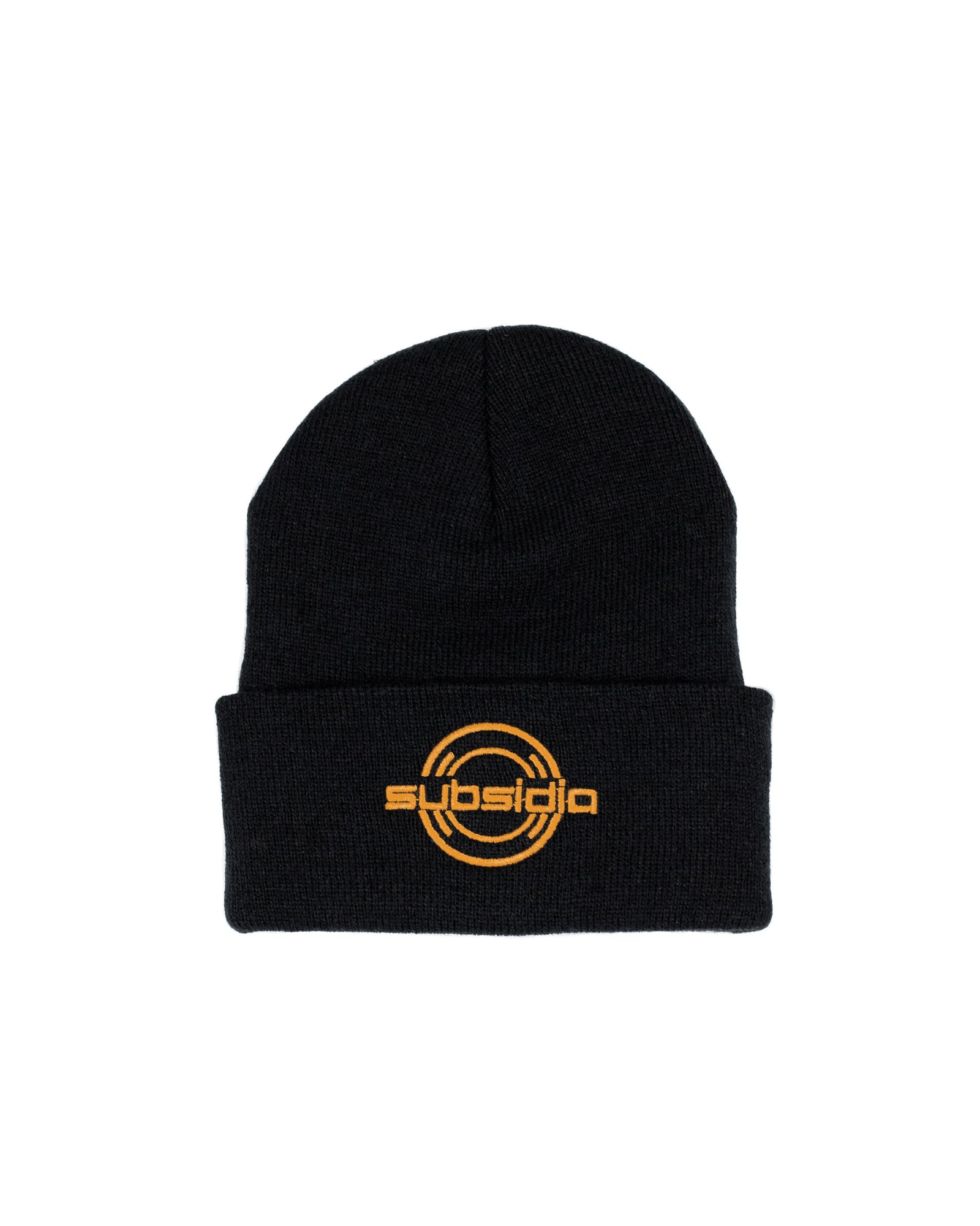'Subsidia' Beanie - Black/Orange