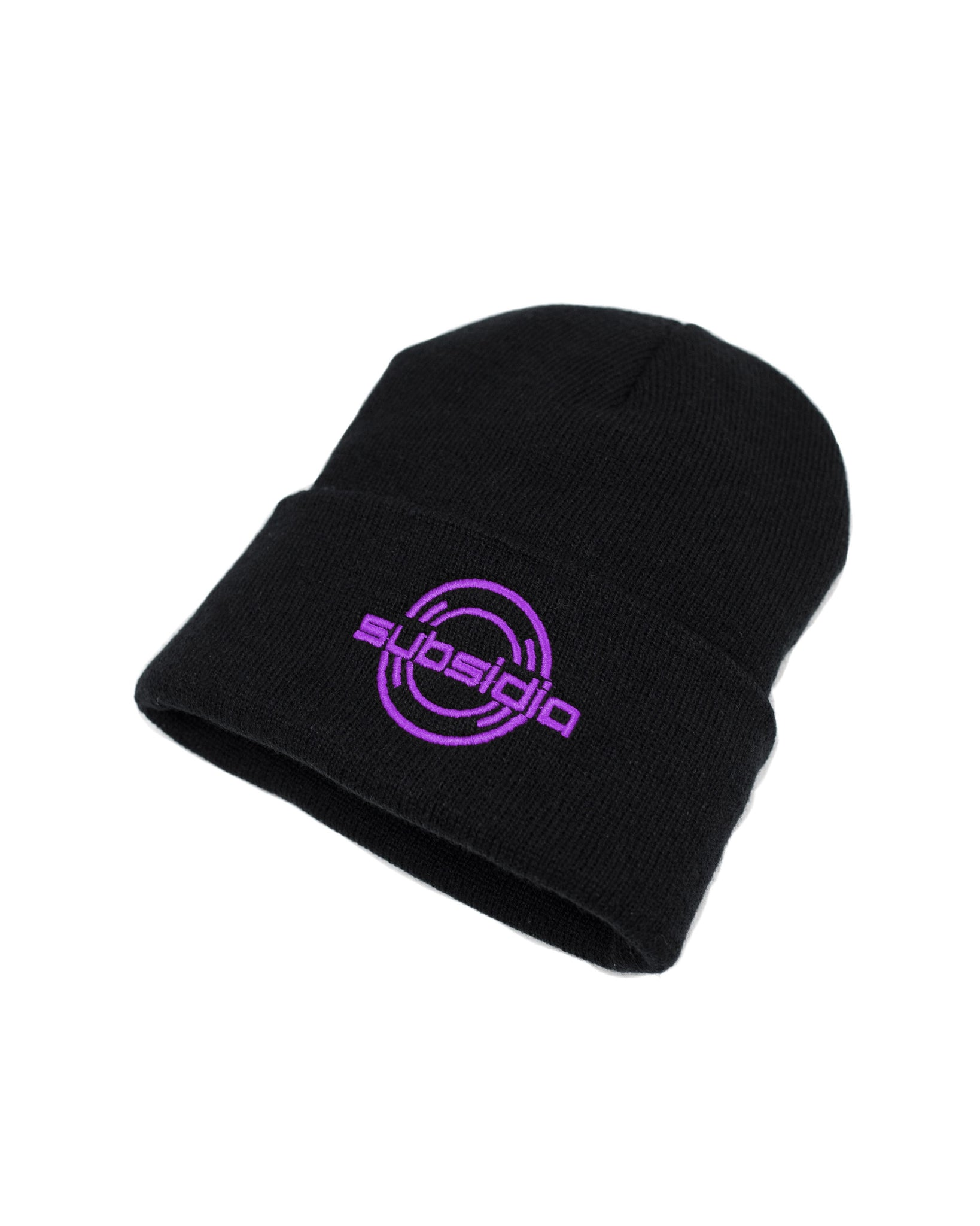 'Subsidia' Beanie - Black/Purple