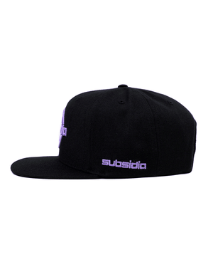 'Subsidia' Snapback - Black/Purple