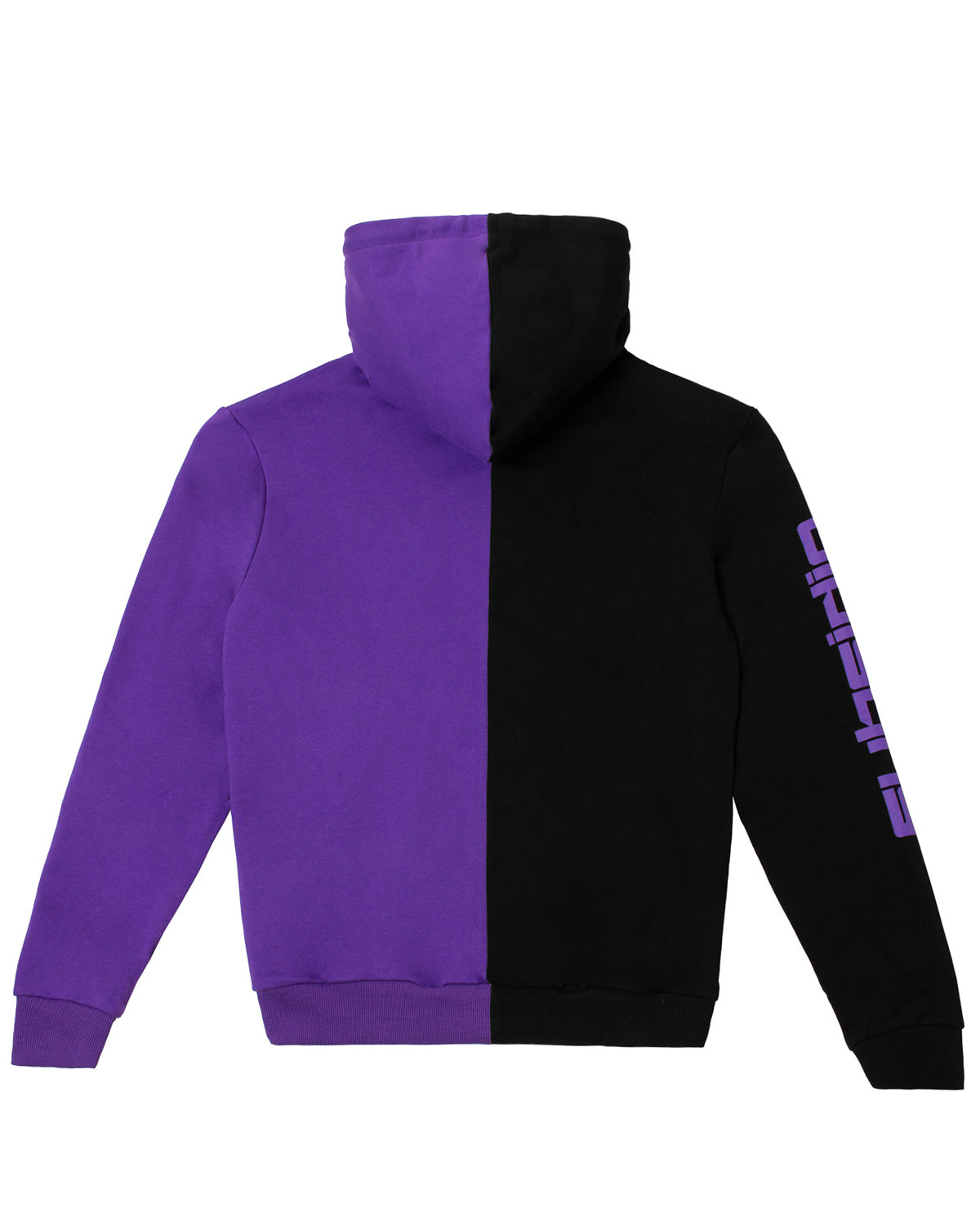 'Subsidia' Split Hoodie - Black/Purple
