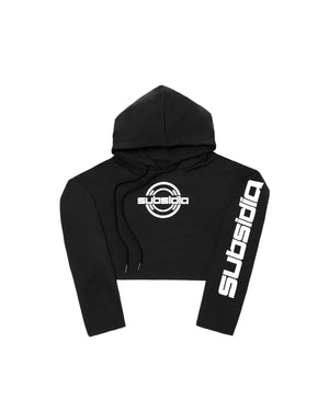 Subsidia Women's Crop Hoodie - Black/White