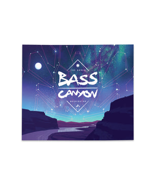 "Bass Canyon Festival Tapestry - 60"" x 50"" - Daybreak"