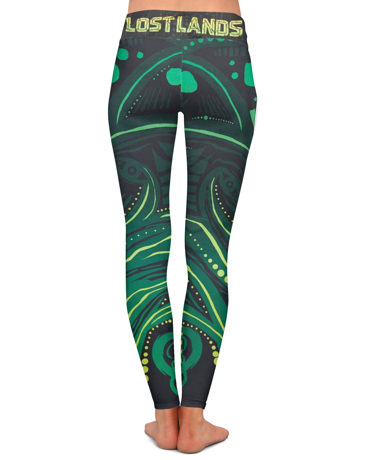 Lost Lands 'Crop Circles' Leggings (Green)