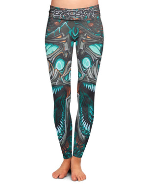 Excision 'Venom' Leggings - Seafoam