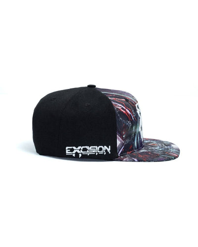 Excision 'Sliced Logo' Paradox Tour 2018 Snapback - Black/Red
