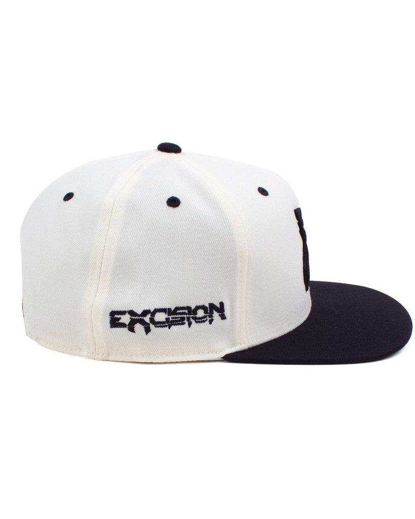 Excision Snapback Hat-White/Black