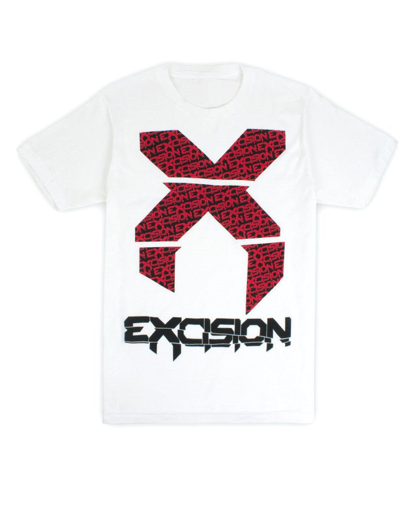 Excision Big X Unisex T-Shirt (White)