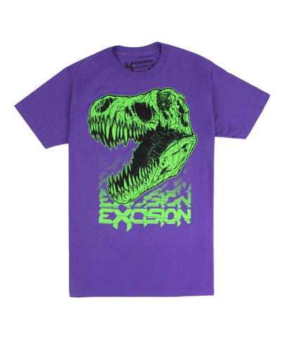 Excision Fossil Rex Unisex T-Shirt (Purple)