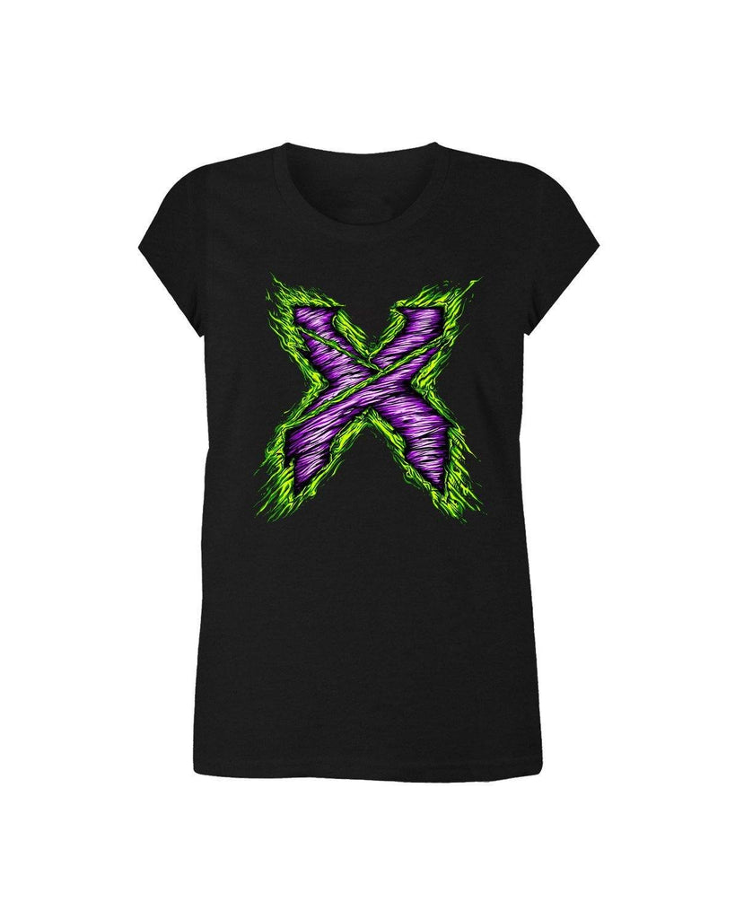 Excision Girls Zombie X T-Shirt-Black