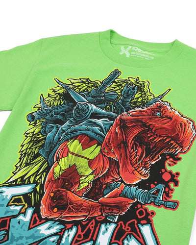 Excision Warrior Rex Unisex Tee - Lime