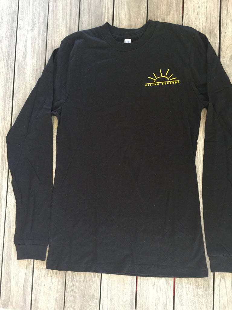 Black Long Sleeve Rising Records LOGO Shirt