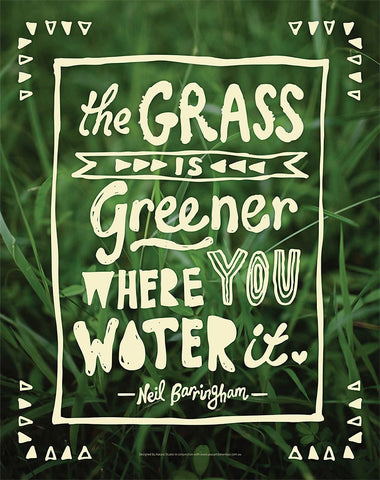 Grass is Greener card (A5) - FREE shipping!
