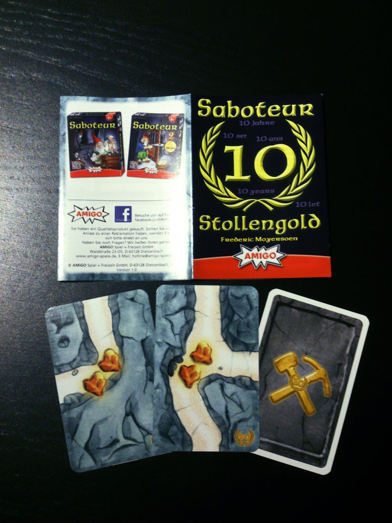 Saboteur 10th Anniversary Promo Cards