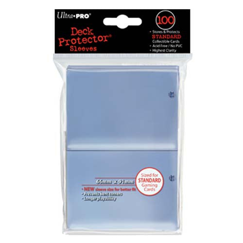 Ultra Pro 100ct Clear Standard Deck Protectors (66mm x 91mm)