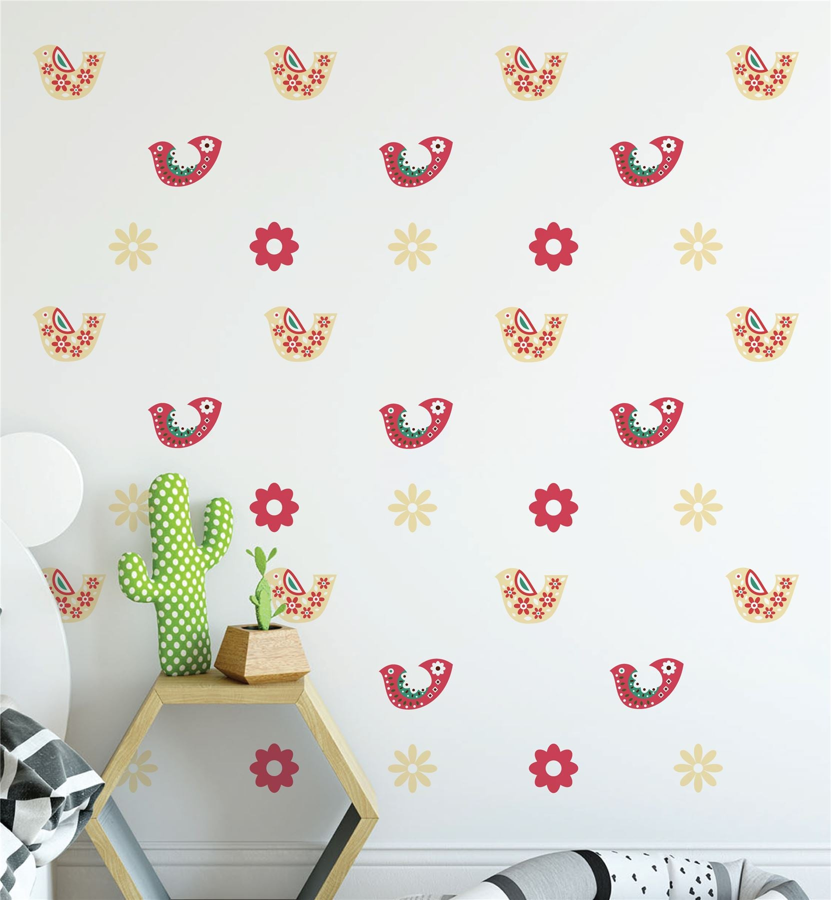 Flowers And Birds (Collection Of 38) Wall Sticker Decal