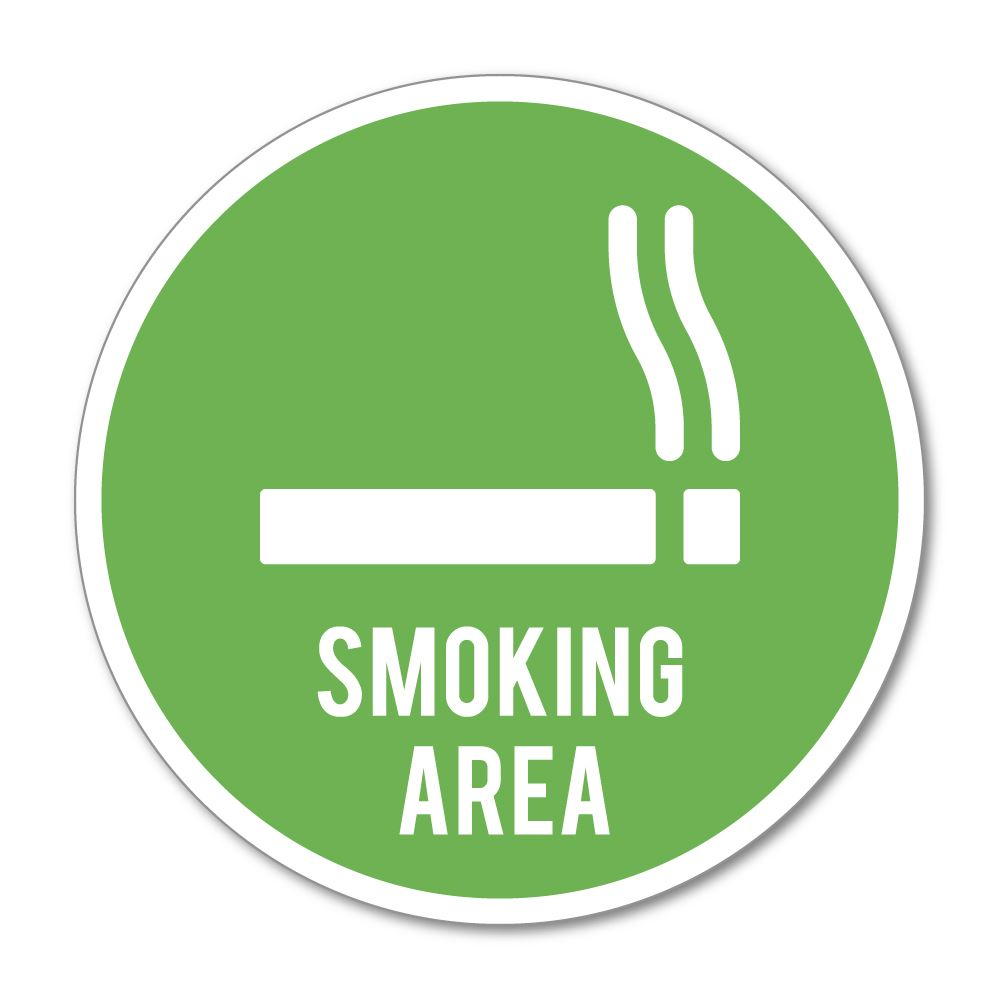 Smoking Area Sticker Decal