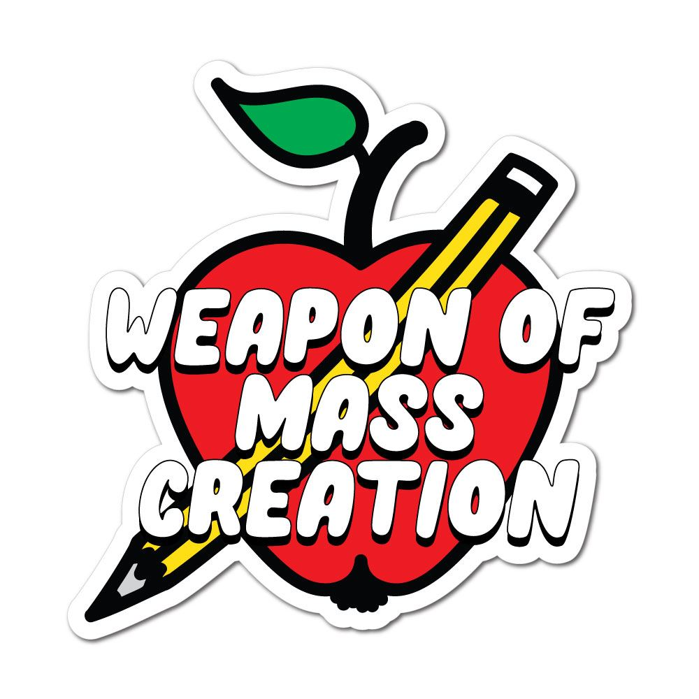 Weapon Of Mass Creation Sticker Decal