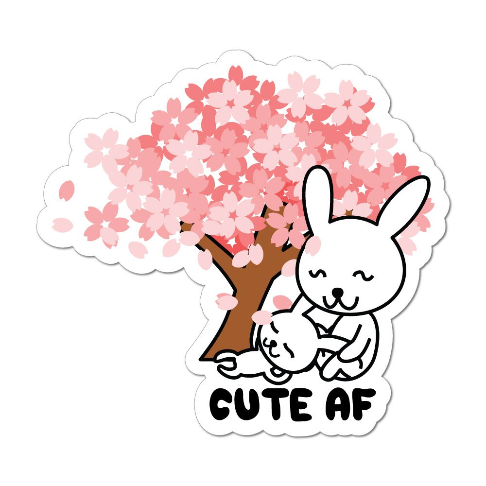 Cute Af Rabbit Car Sticker Decal