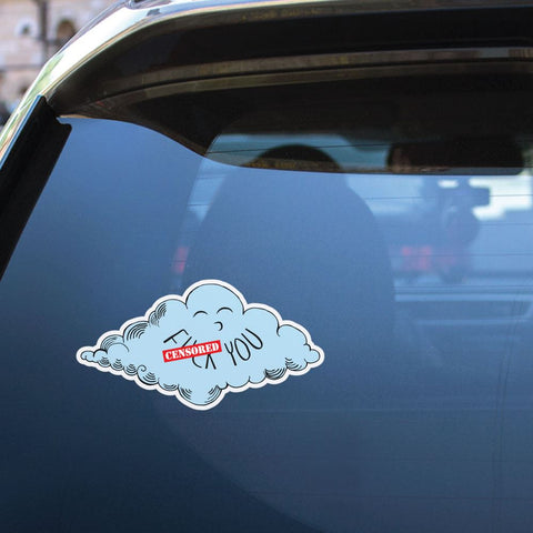 Cloudy Day Sticker Decal