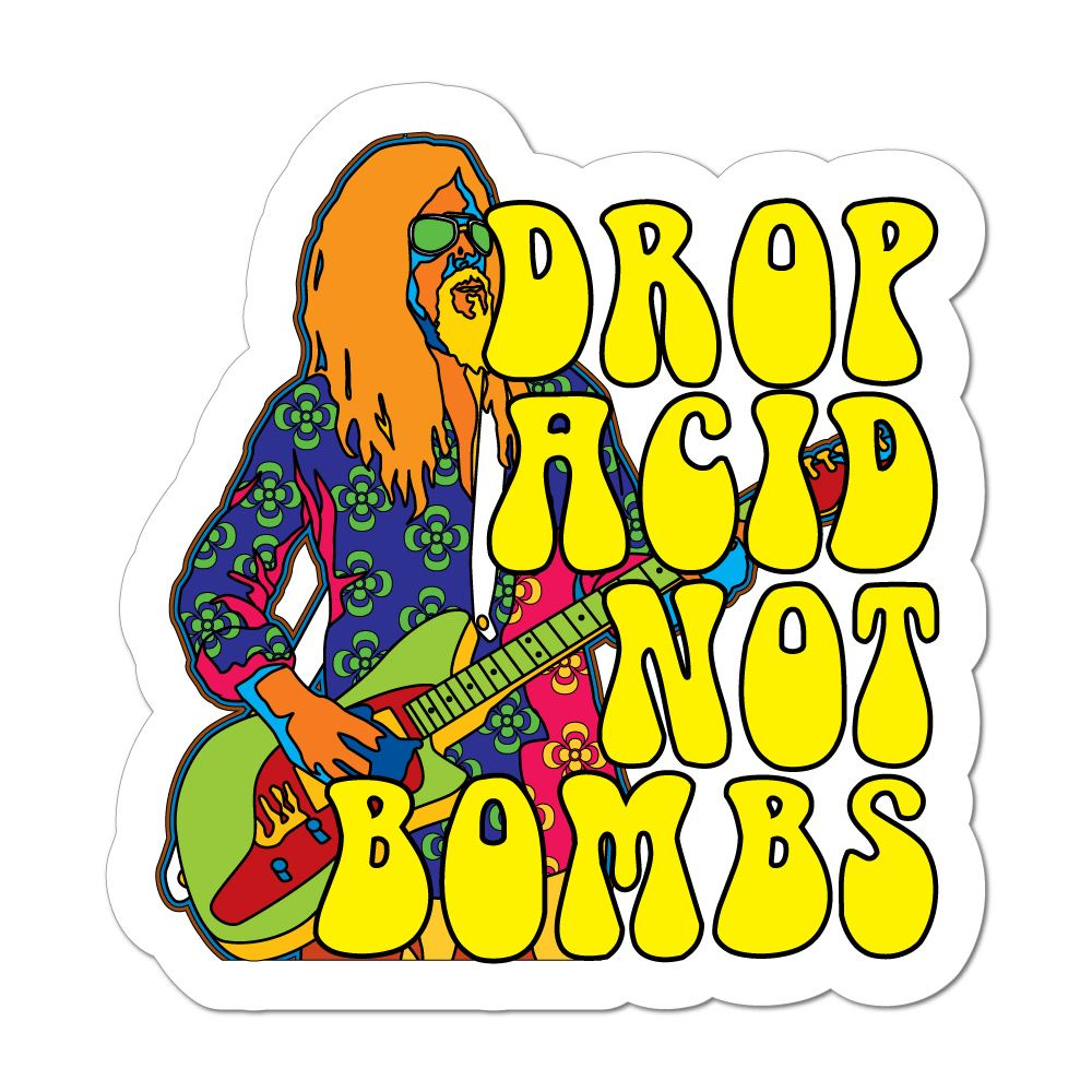 Drop Acid Not Bombs Car Sticker Decal