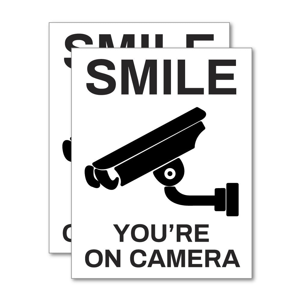 2X You Are On Camera Sticker Decal