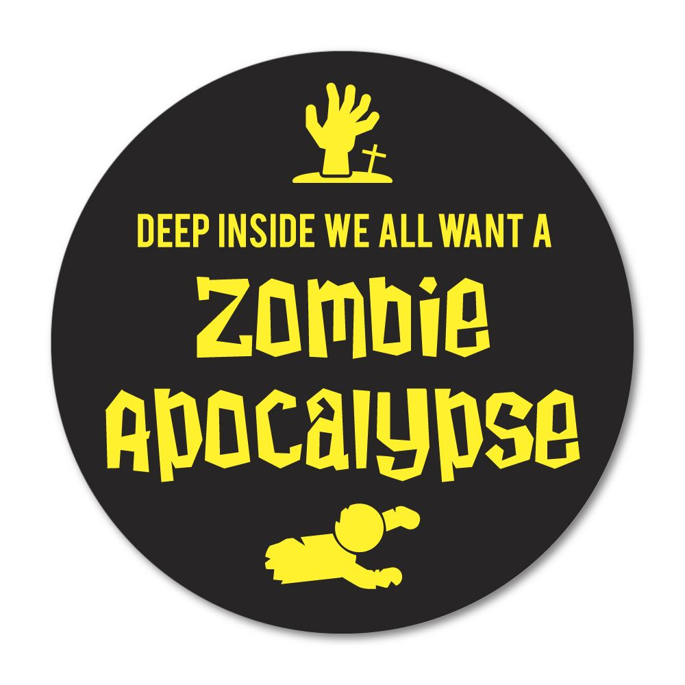 Zombie Apocalypse Sticker Decal