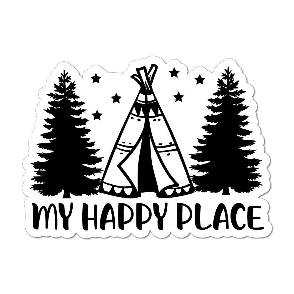 My Happy Place Laptop Car Sticker Decal