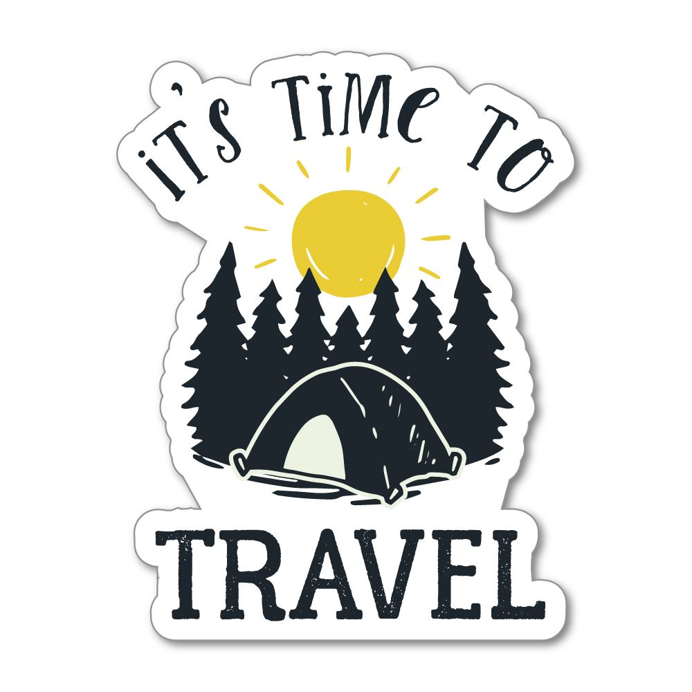 Time To Travel Sticker Decal