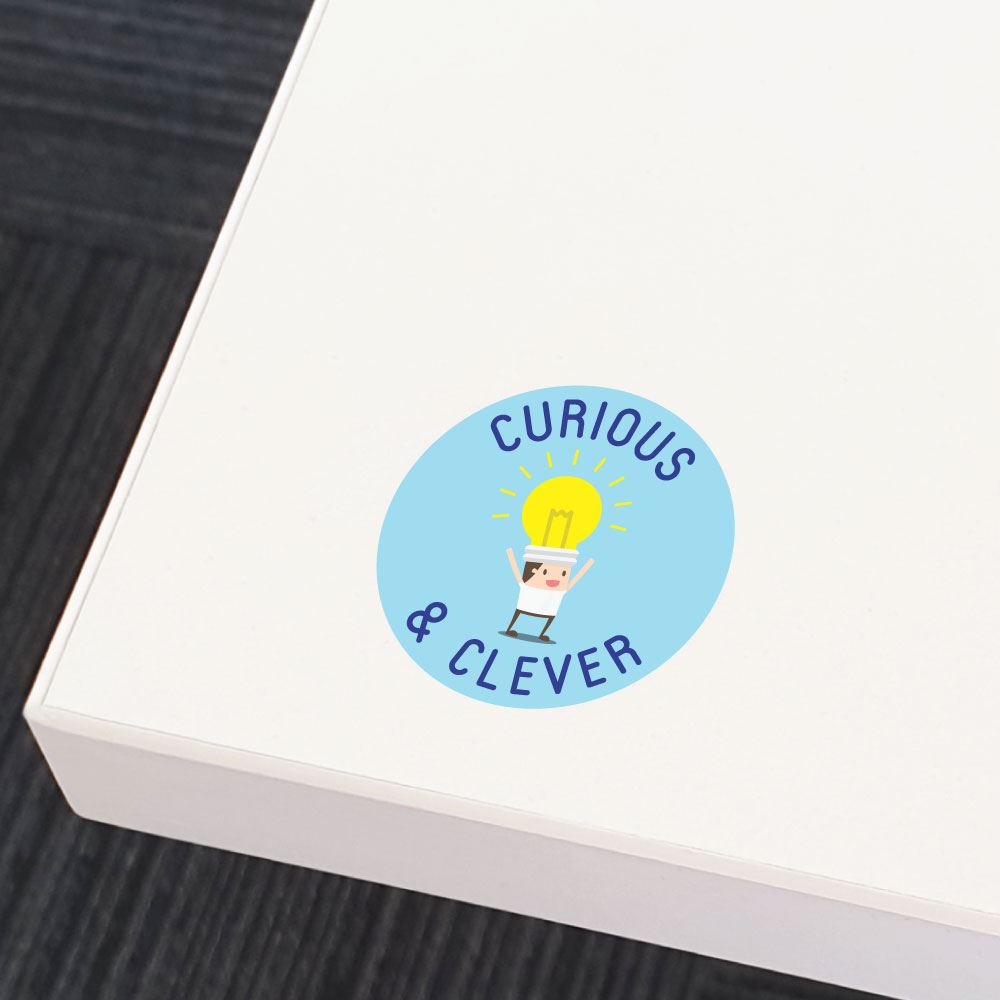 Curious Clever  Sticker Decal