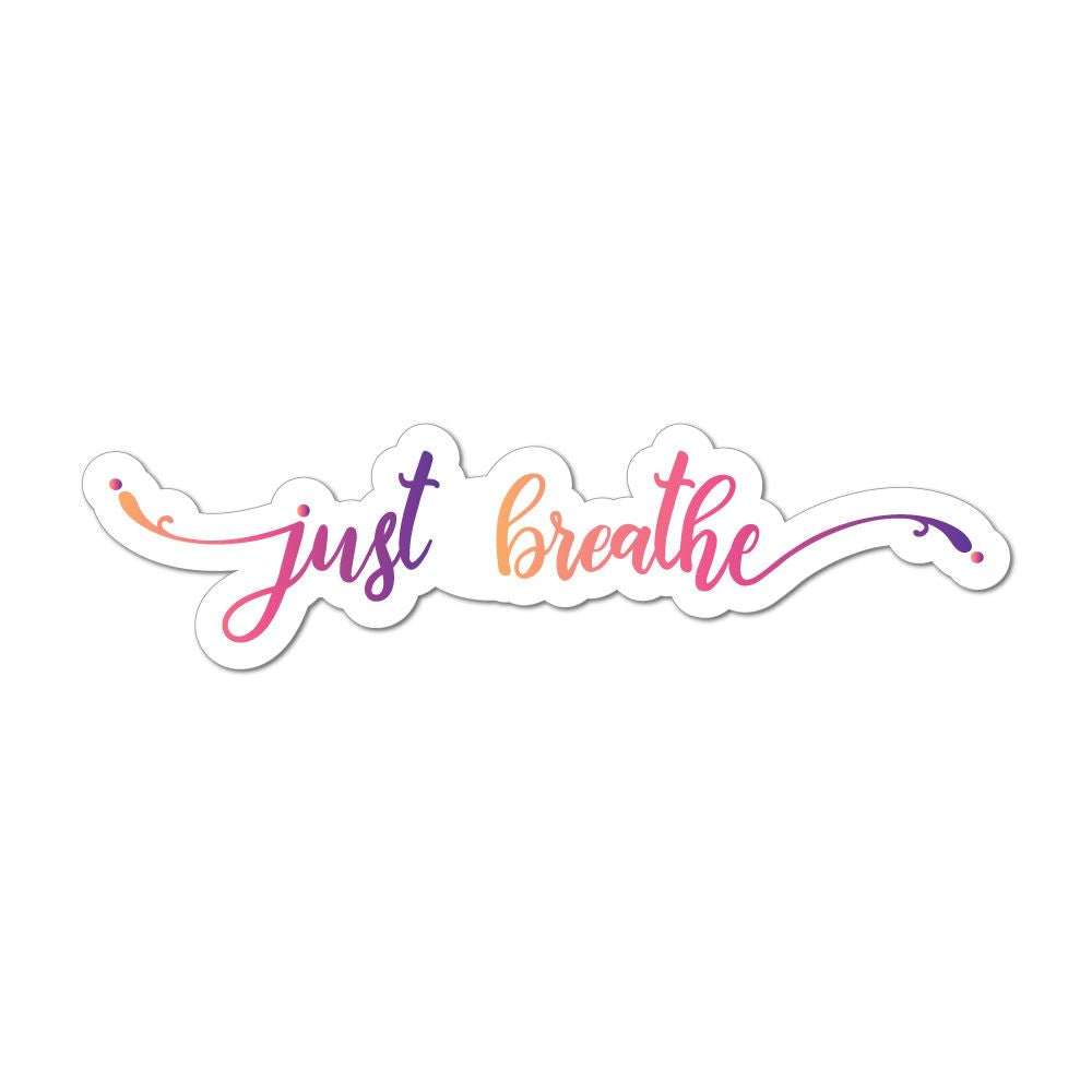 Just Breathe Car Sticker Decal