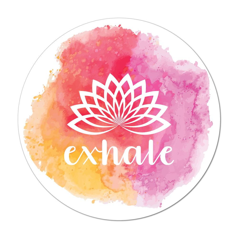 Exhale Laptop Car Sticker Decal
