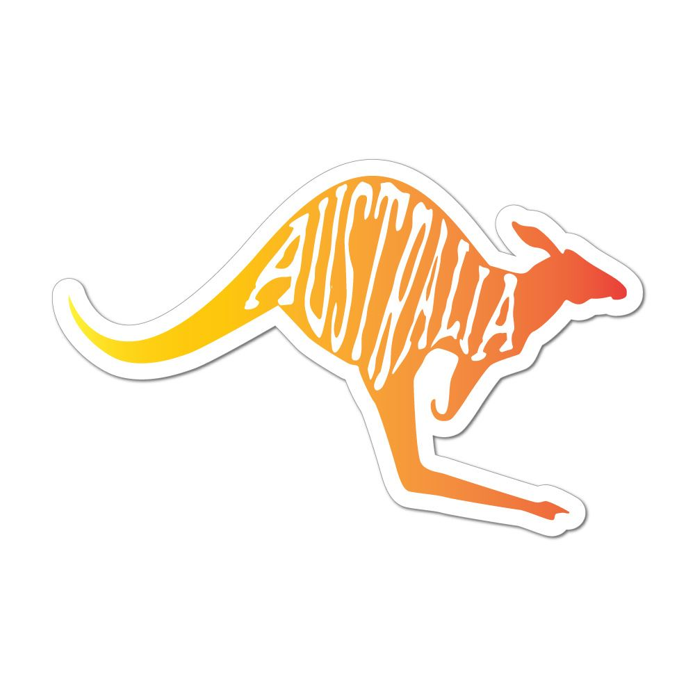Kangaroo Australia Country Native Animal Love Home Car Sticker Decal