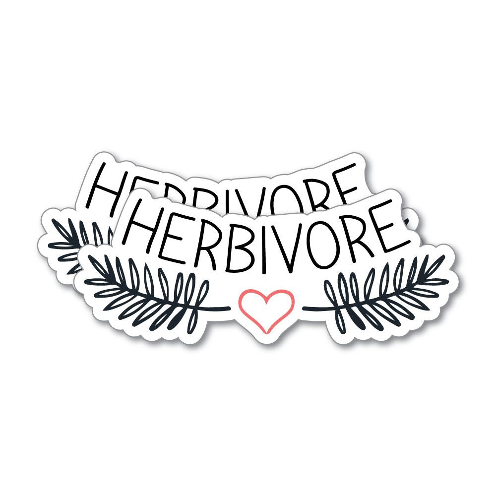 2X Herbivore Sticker Decal