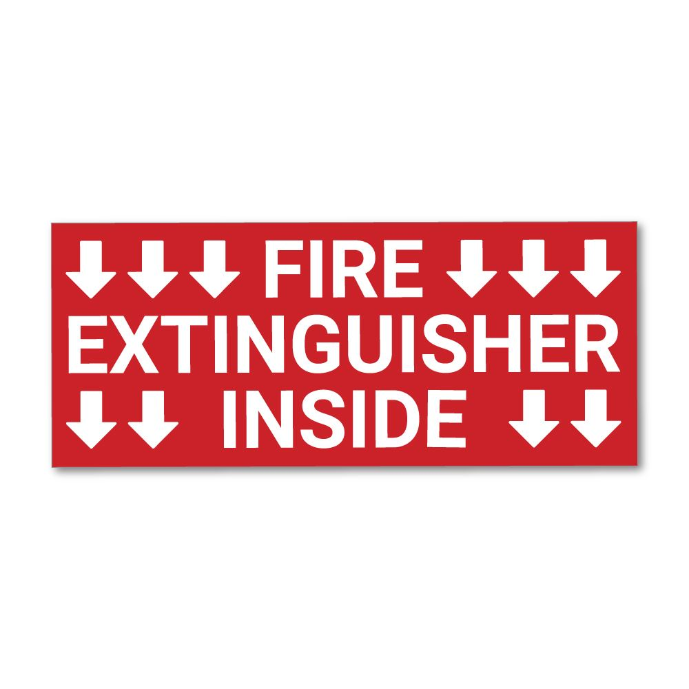 Fire Extinguisher Sticker Decal